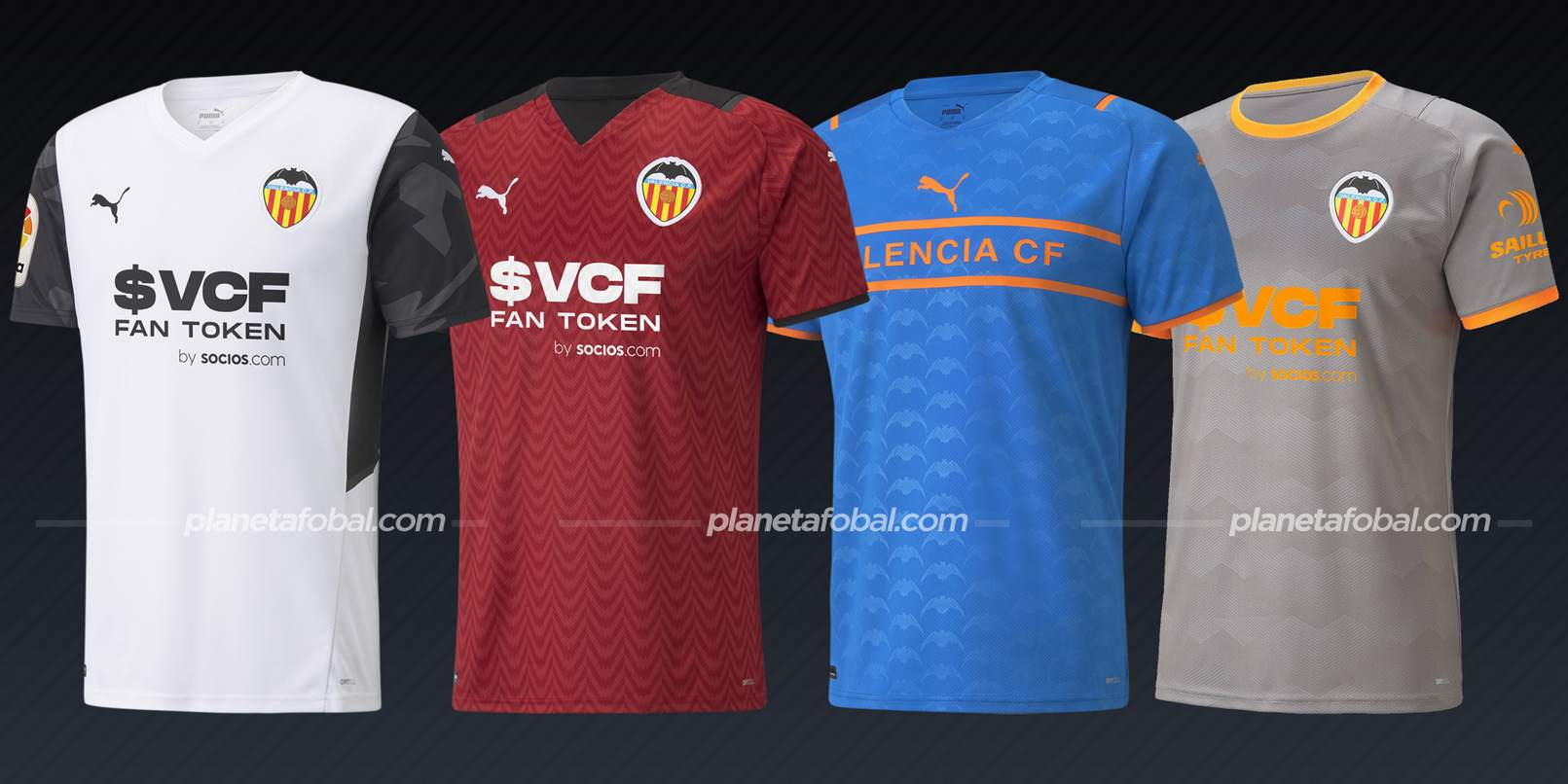 Valencia (PUMA)   Camisetas de LaLiga 2021/22