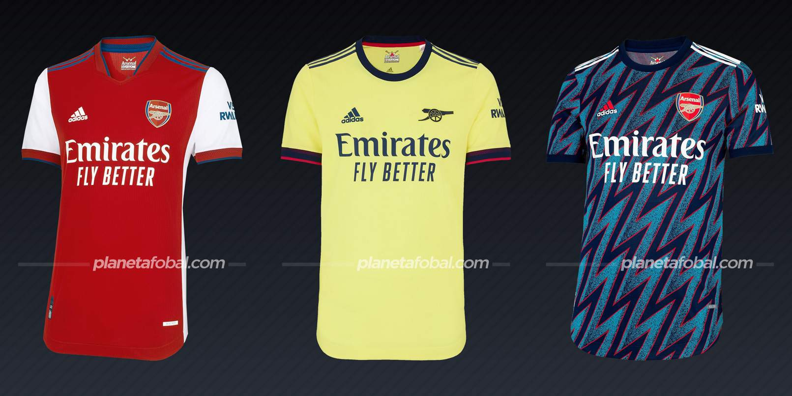 Arsenal (adidas) | Camisetas de la Premier League 2021/22