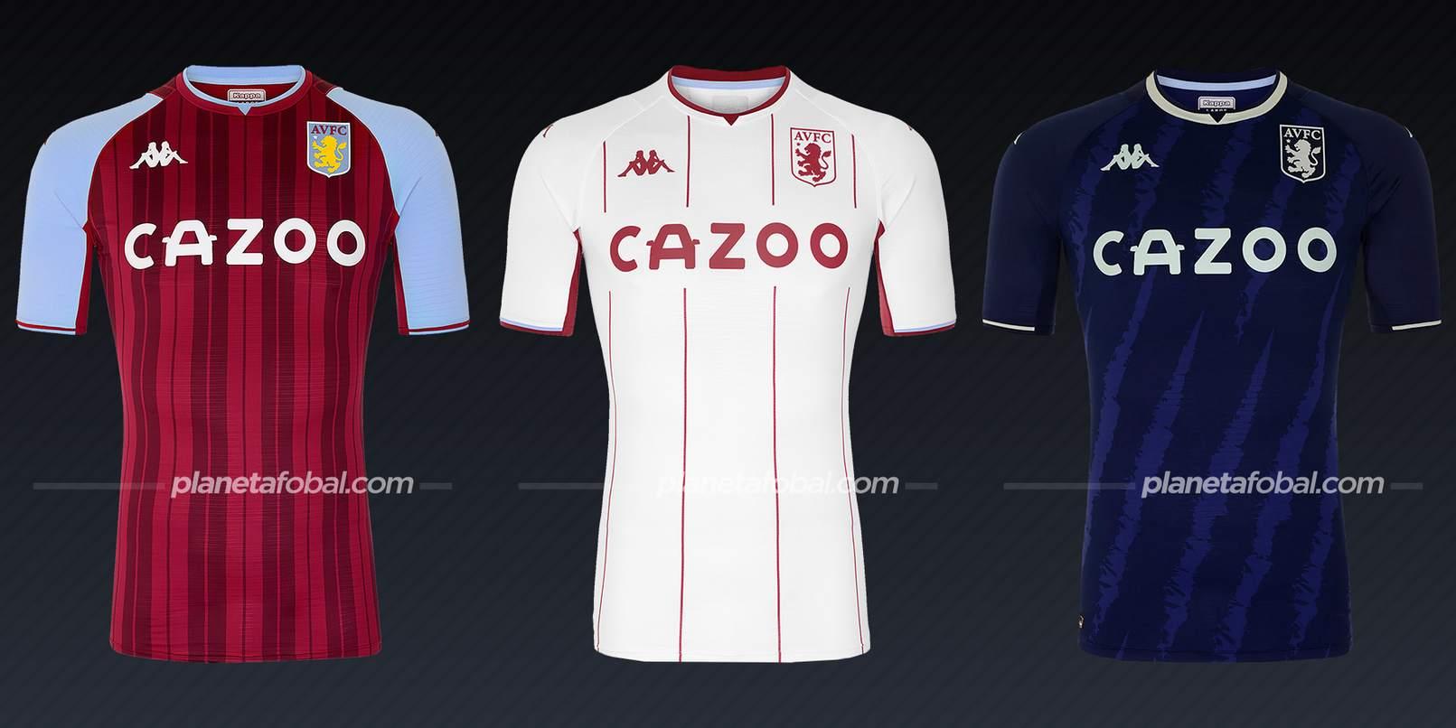 Aston Villa (Kappa) | Camisetas de la Premier League 2021/22