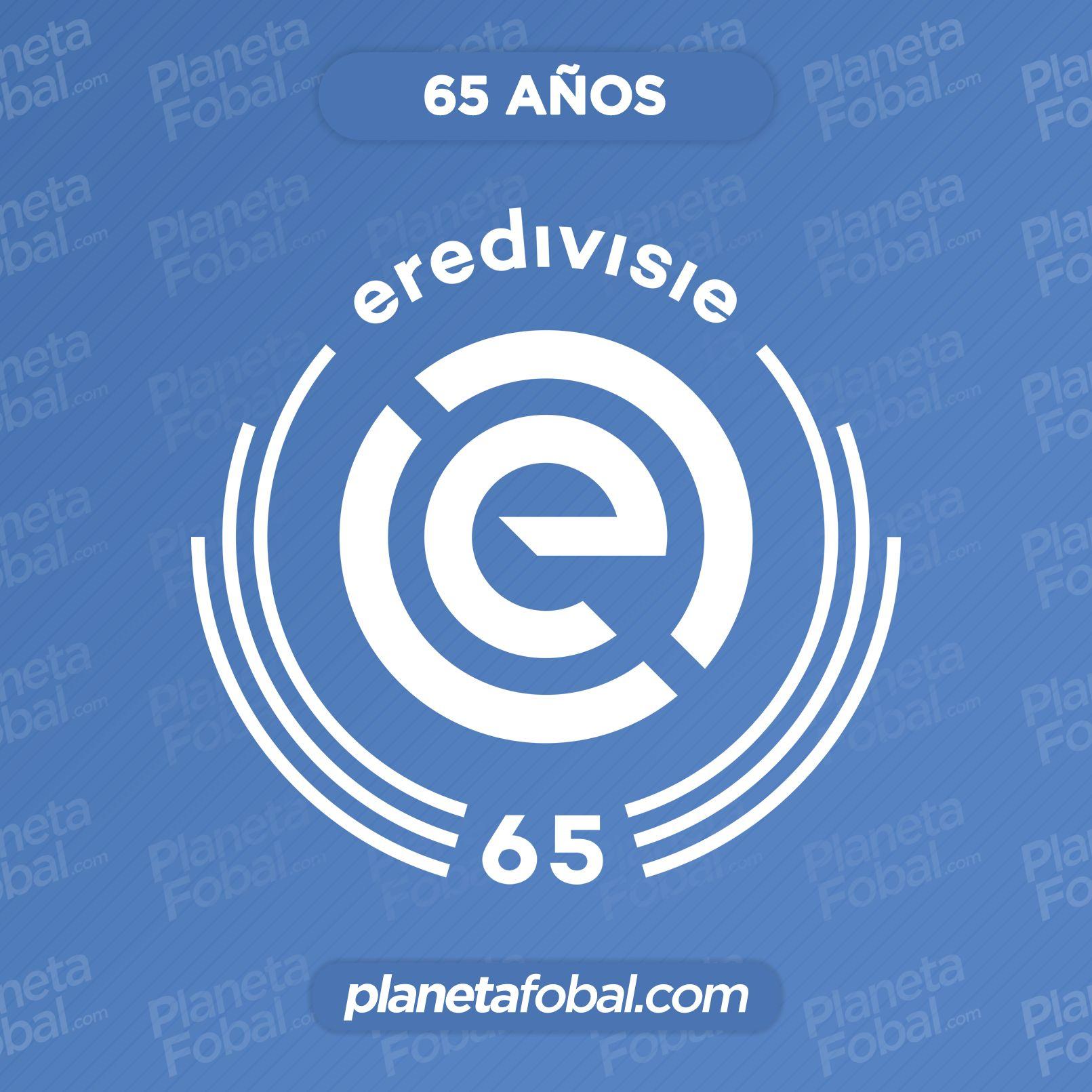 """Logo especial de la Eredivisie 2021/22 """"65 años"""""""
