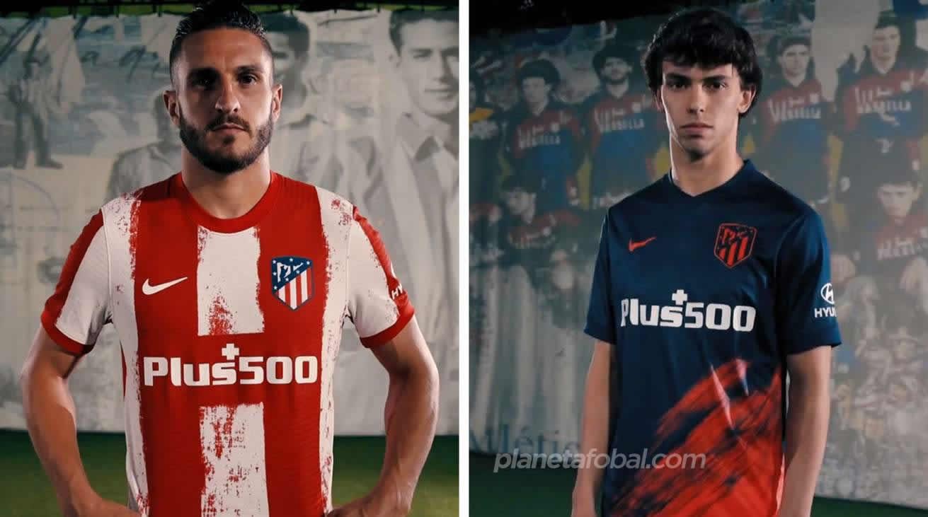 Primera y segunda equipación Nike del Atlético de Madrid 2021/22