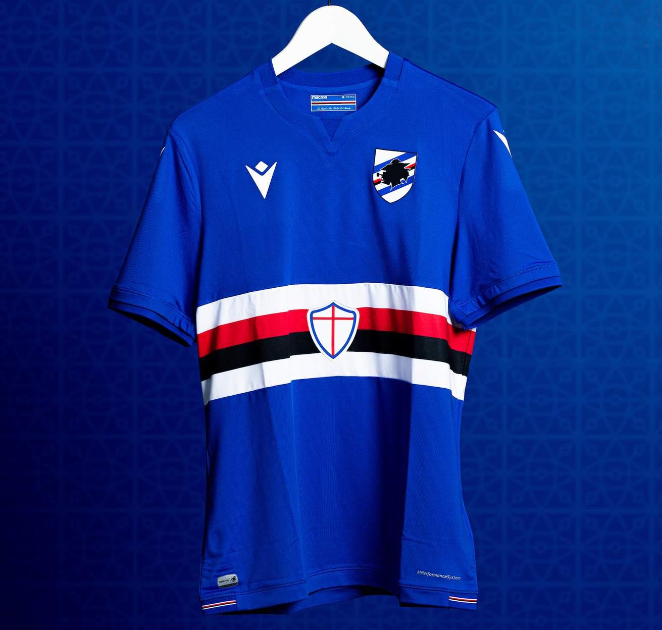 Camiseta Macron de la Sampdoria 2021/22