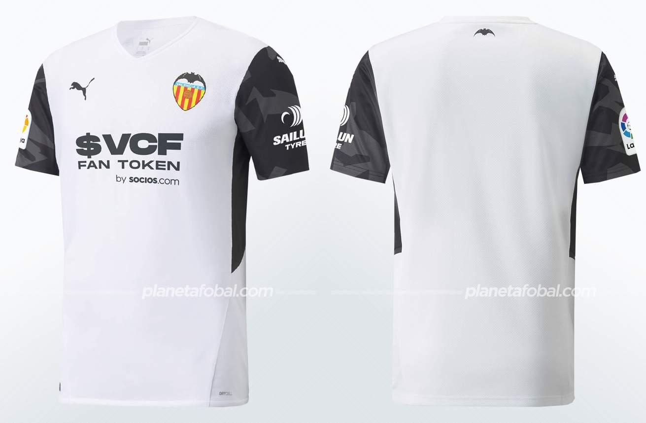 Camiseta local Puma del Valencia 2021/22