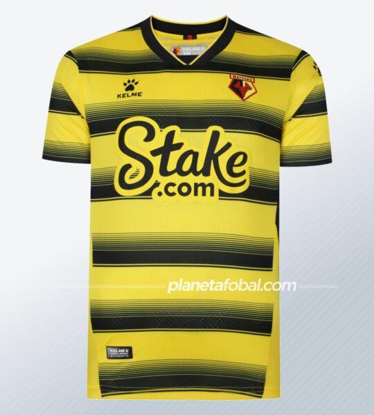 Camiseta titular Kelme del Watford 2021/22
