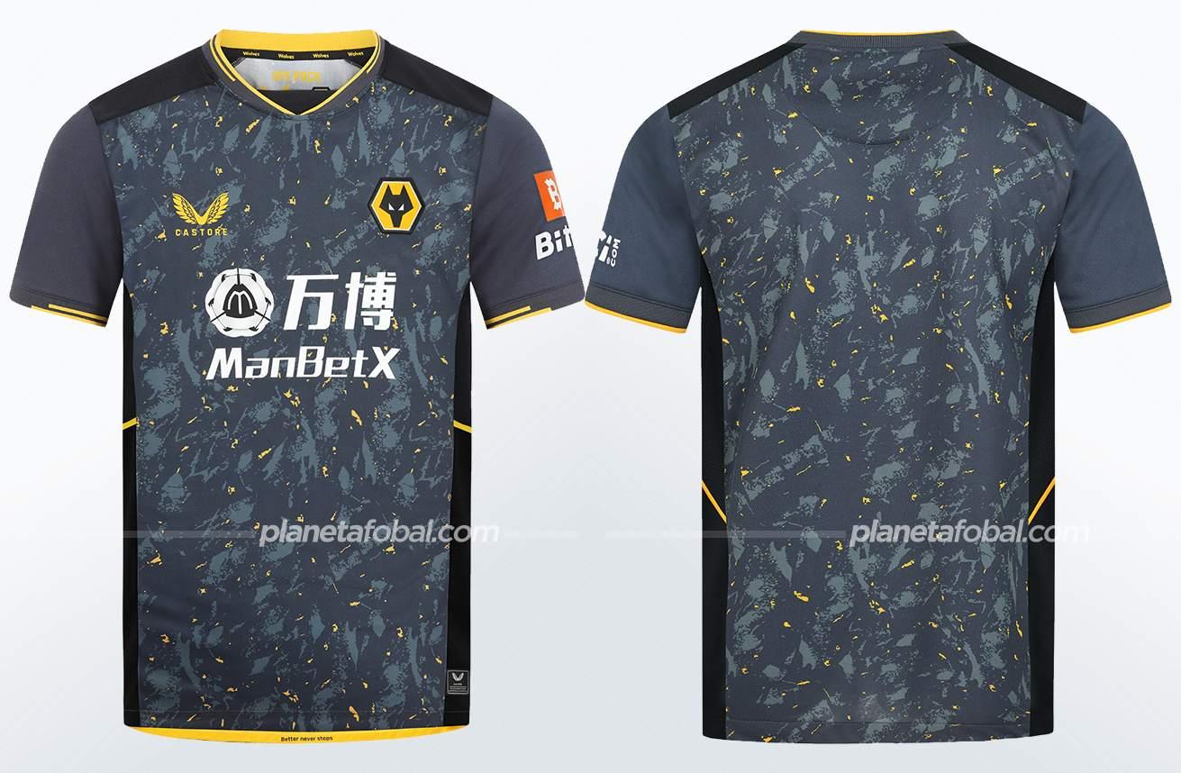 Camiseta suplente Castore del Wolverhampton 2021/22