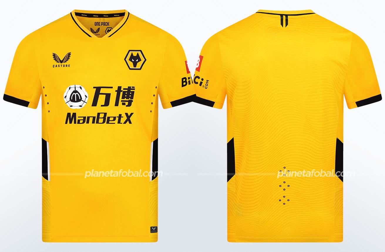 Camiseta titular Castore del Wolverhampton 2021/22