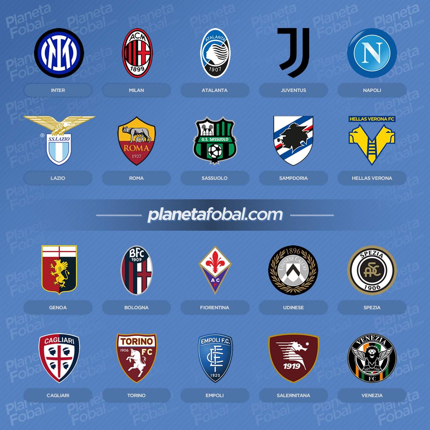 Equipos de la Serie A 2021/2022