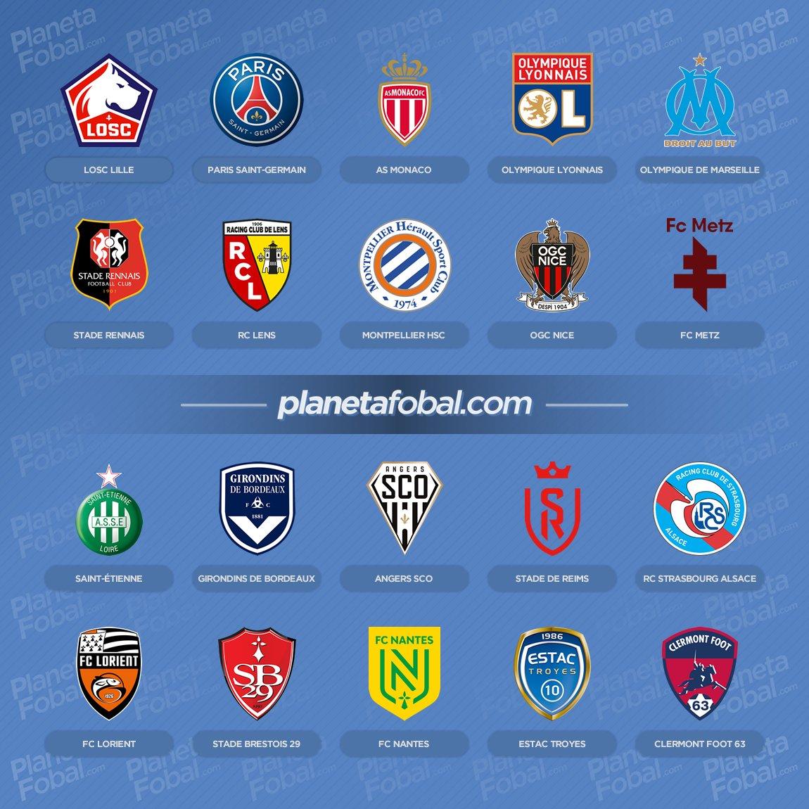 Equipos de la Ligue 1 Temporada 2021/2022