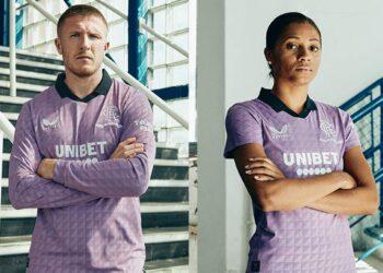 Tercera camiseta Castore del Rangers FC 2021/22