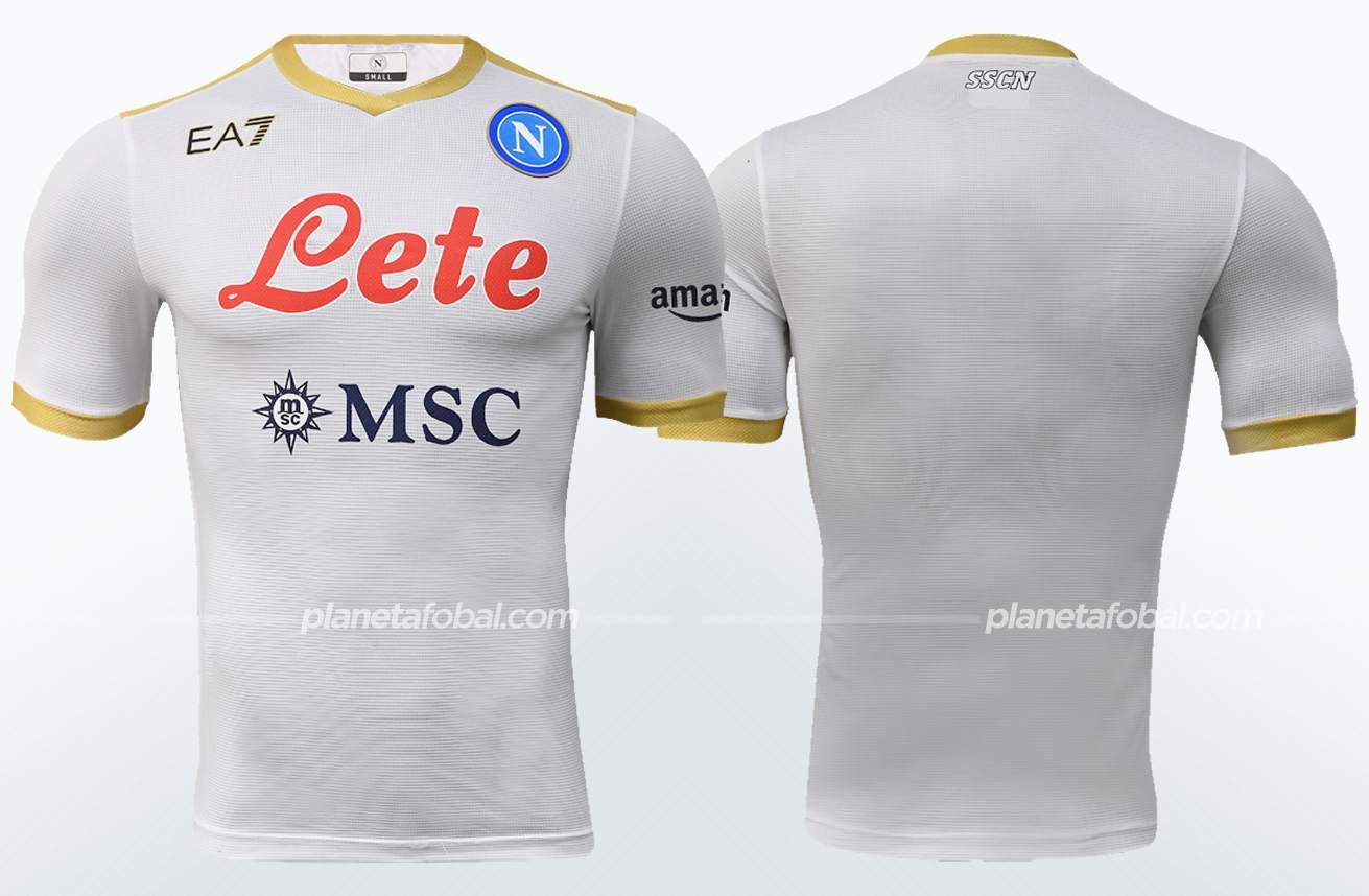 Camiseta suplente EA7 del Napoli 2021/22   Imagen Web Oficial