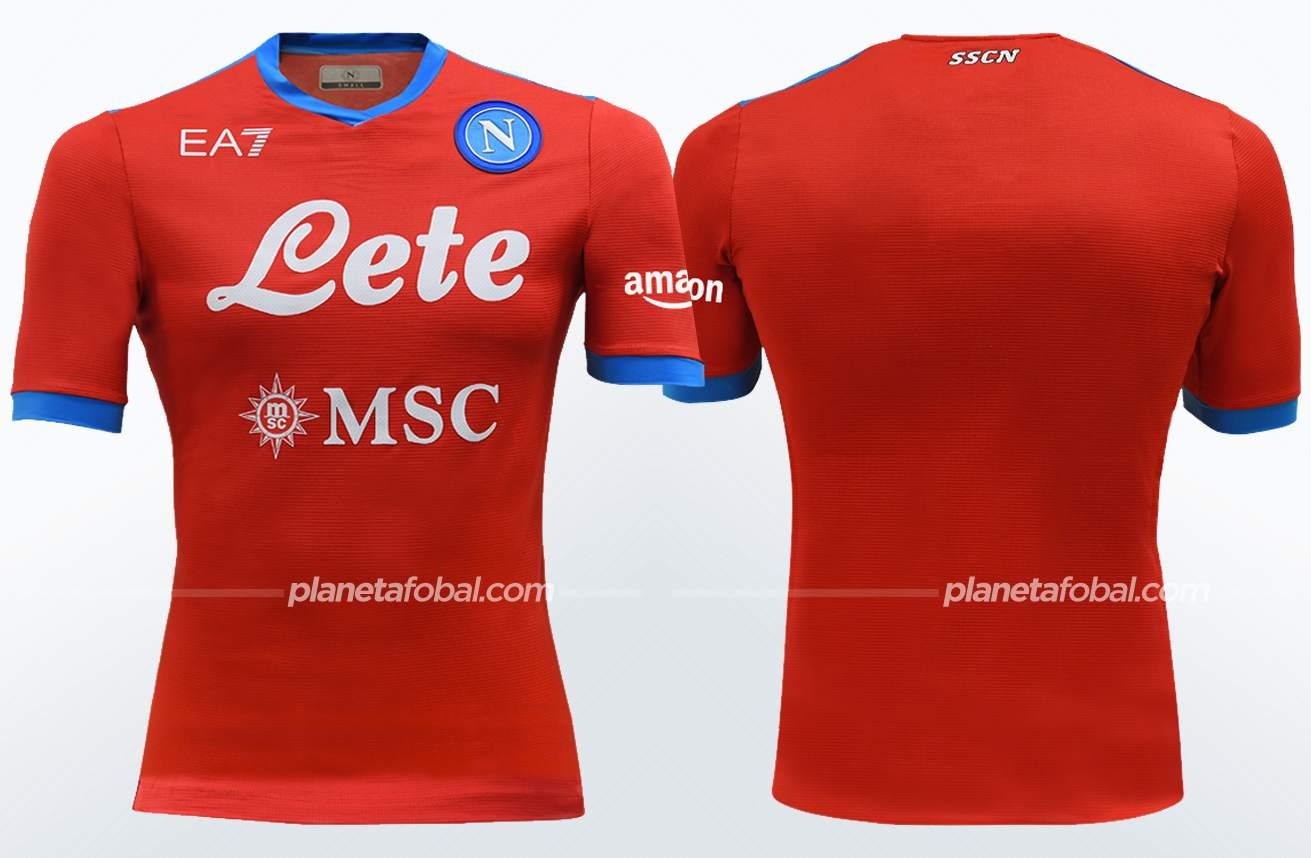 Cuarta camiseta EA7 del Napoli 2021/22   Imagen Web Oficial