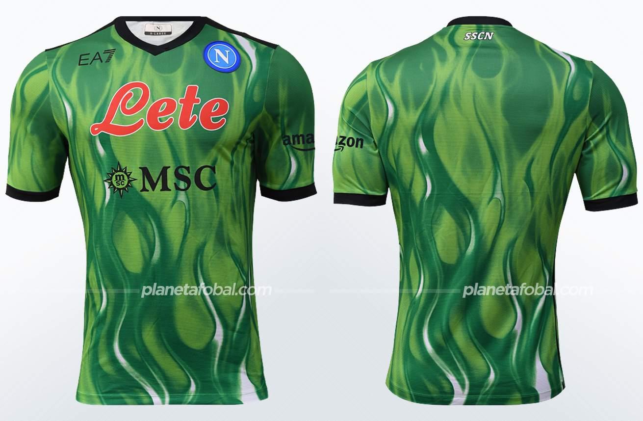 Camiseta de arquero EA7 del Napoli 2021/22   Imagen Web Oficial