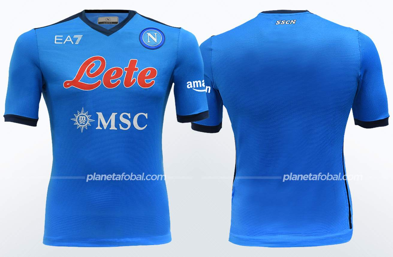Camiseta local EA7 del Napoli 2021/22   Imagen Web Oficial