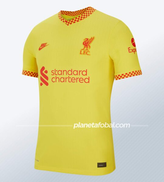 Tercera camiseta Nike del Liverpool 2021/2022
