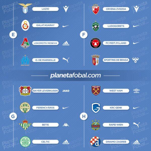 Marcas deportivas de la UEFA Europa League 2021/22