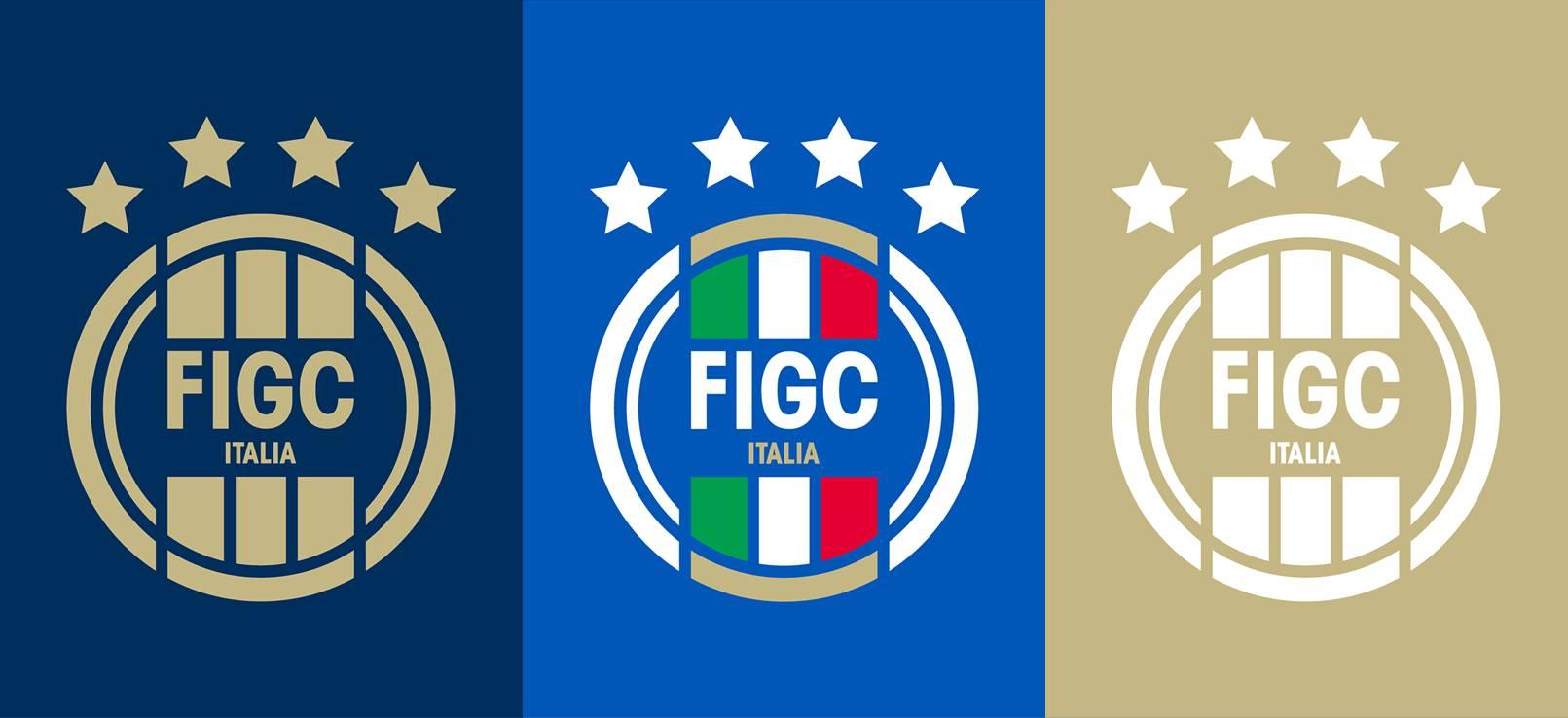 Otras variantes del nuevo logo de la FIGC